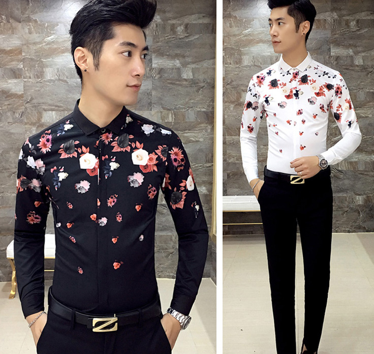Online Get Cheap Men Floral Print Button Down -Aliexpress.com ...