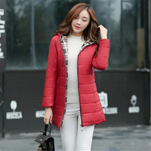 2016 Новых Осенью и зимой женщины Корейской Моды Длинный Абзац Сплошной Цвет Большой Размер Тонкий С Капюшоном Пальто