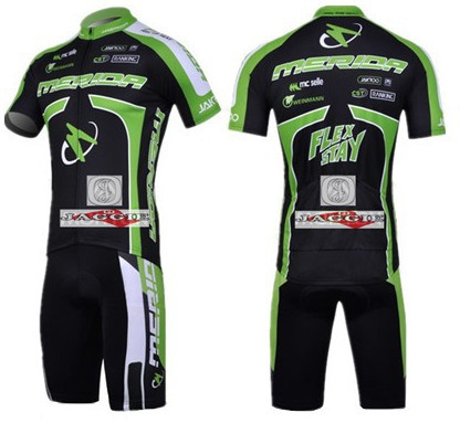 MERIDA 2011 Green short sleeve cycling team jersey + bbb shot set kit wear clothes bicycle bike riding cycle jerseys Z123