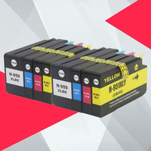 8PK Compatible For HP 950XL 951XL 950 951 Ink Cartridges Officejet Pro 8100 8600 8610 8615 8620 8625 251dw 276dw for HP950