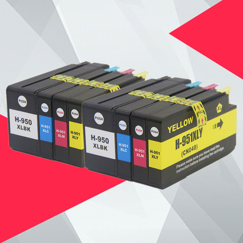 8PK Compatible For <font><b>HP</b></font> 950XL 951XL 950 <font><b>951</b></font> Ink Cartridges Officejet Pro 8100 8600 8610 8615 8620 8625 251dw 276dw for HP950 image