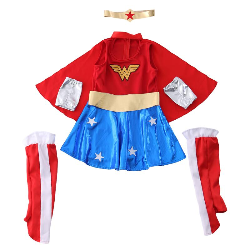 Superman Girl Tutu Dress Children For Halloween Cosplay Costume Fashion Girl Halloween Clothes Photography Clothes Fancy Dress super hero children girl tutu dress girls superman photography props cosplay dress girl birthday gift halloween costume dt 1618