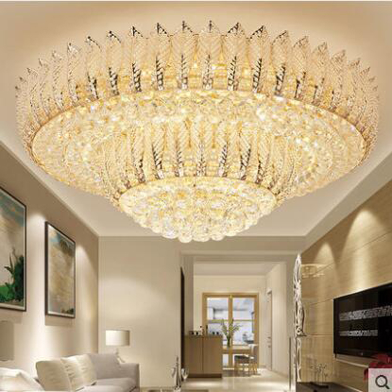Simple Modern Crystal Lamp Round Living Room Ceiling Hall Light Bedroom Study Dining Room Dining Room Crystal Lighting Lighting single head cloth pendant light nordic new simple lighting modern living room dining room study bedroom bed warm zcl