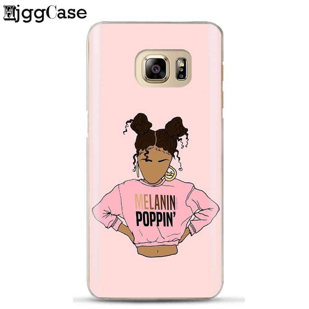 2 bunz меланина попсовое Aba телефон чехлы для Samsung Galaxy S6 S7 край S8 S9 плюс J3 J4 J6 J5 j7 A3 A5 A6 A7 2016 2017 A8 плюс 2018
