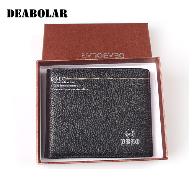 da3b1fe2ff5a Small Wallet Men Genuine Leather Vintage Wallet Male High Quality Soft Leather  Purse Credit Card Holder Coin Pocket Gift Box