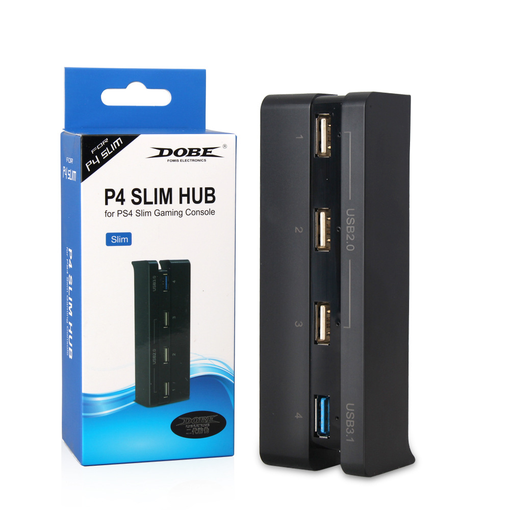 <font><b>PS4</b></font> <font><b>Slim</b></font> <font><b>USB</b></font> <font><b>Hub</b></font>,4-in-1 <font><b>PS4</b></font> <font><b>Slim</b></font> High Speed Adapter <font><b>USB</b></font> <font><b>HUB</b></font> 1 <font><b>USB</b></font> 3.0 Port + 3 <font><b>USB</b></font> 2.0 ports For Sony PlayStation 4 <font><b>Slim</b></font> image