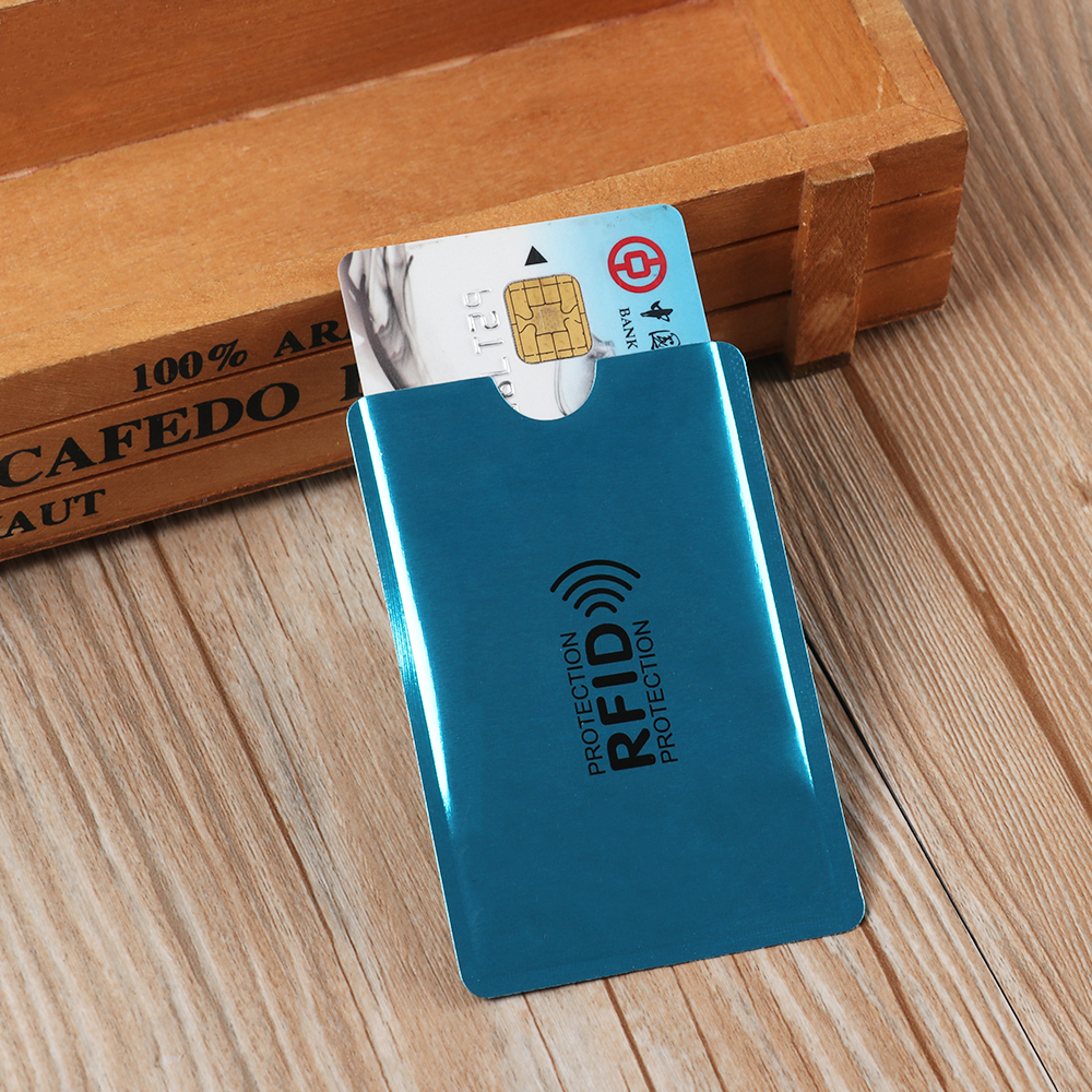 10PC Anti Rfid Blocking Reader Lock Card Holder Id Bank Card Case Protection Aluminium Metal Smart Anti-theft Credit Card Holder(China)