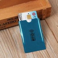 Tarjetero antirrobo inteligente de Metal, soporte de aluminio para tarjetas de crédito, lector de bloqueo de Anti Rfid, funda protectora para tarjetas bancarias, 10 Uds.