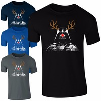 Fashion Darth Vader Rudolph Reindeer T Shirt Men Funny Star Wars Christmas Kids Men Gift O