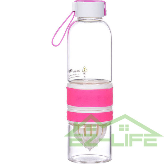 3 pieces/lot 550ml glass sports lemon bottle infuser Drinkware water Manual juicer outdoor cup Water BPA free - RUIAN LAIFU IMPORT&EXPORT CO.,LTD. store