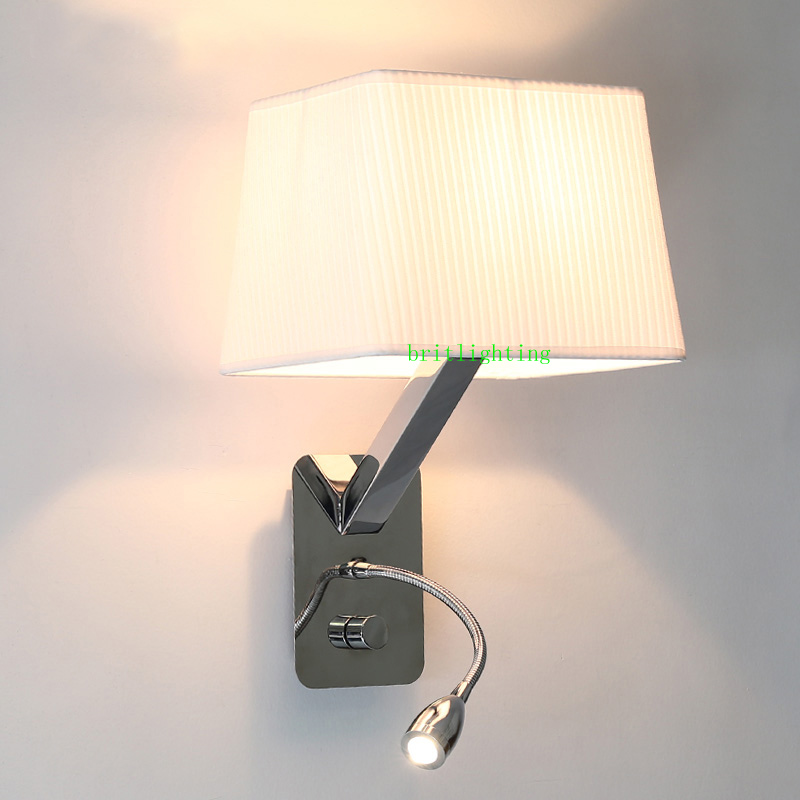 Indoor Flexible Mechanical Arm Wall Lamp Bedside Reading Light Sconce Wireless Lamps Led In From Lights