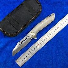 LEMIFSHE MT02  Warhound Flipper Folding Knife D2 blade TC4 Titanium handle Camping Hunting Outdoor survival Knives EDC Tools цены онлайн