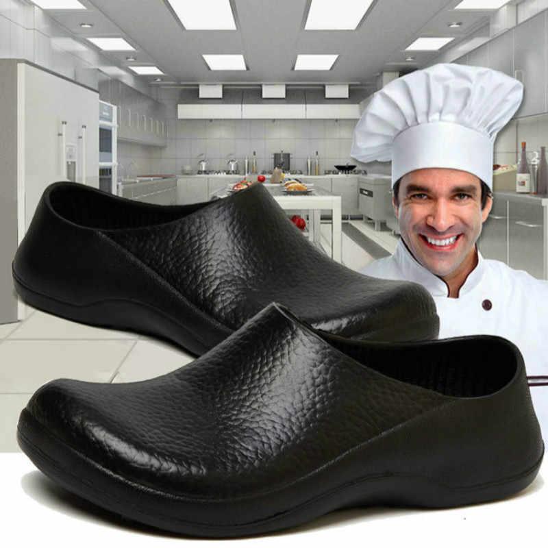 black kitchen clogs