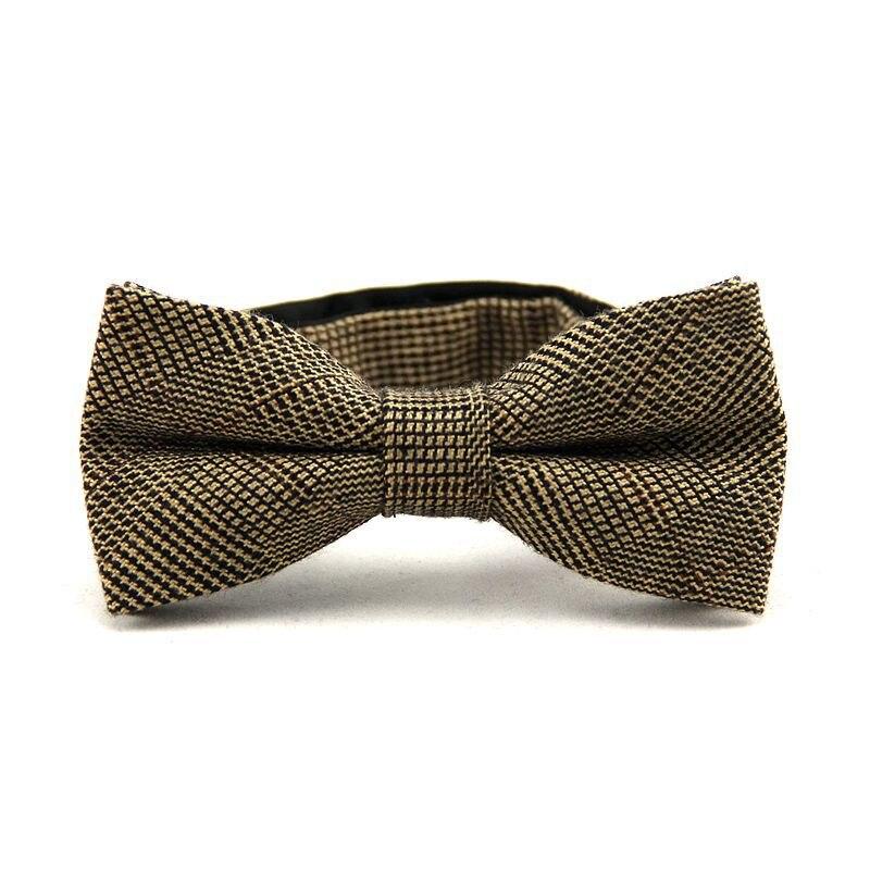 0e7d93afaae5e Formal clásica superior 100% algodón lana corbata gravata corbata de lujo  para hombre del Tweed del lazo BowTie