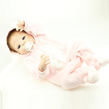 55cm Full Body Silicone Reborn Baby Girl Doll Toy Newborn Toddler Princess Babies Alive Bebe Bathe Toy Girls Bonecas Kids Gift