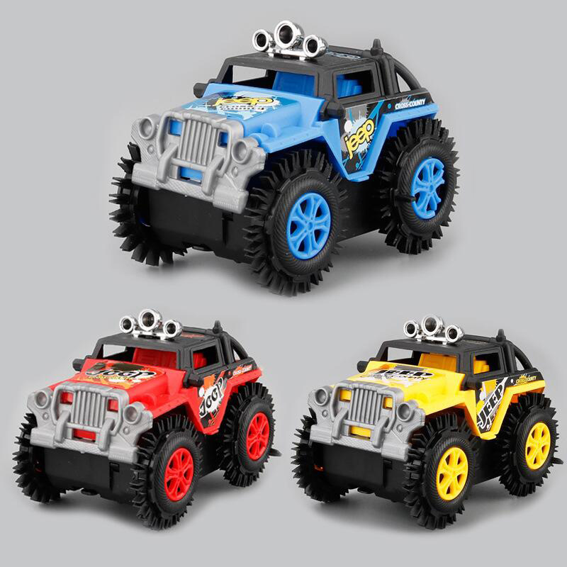 1 Pc Electric Mini Roll Stunt Off Road Truck Climbing Cool Car Battery Operated For Kids 3 Colors Boys Birthday Gift