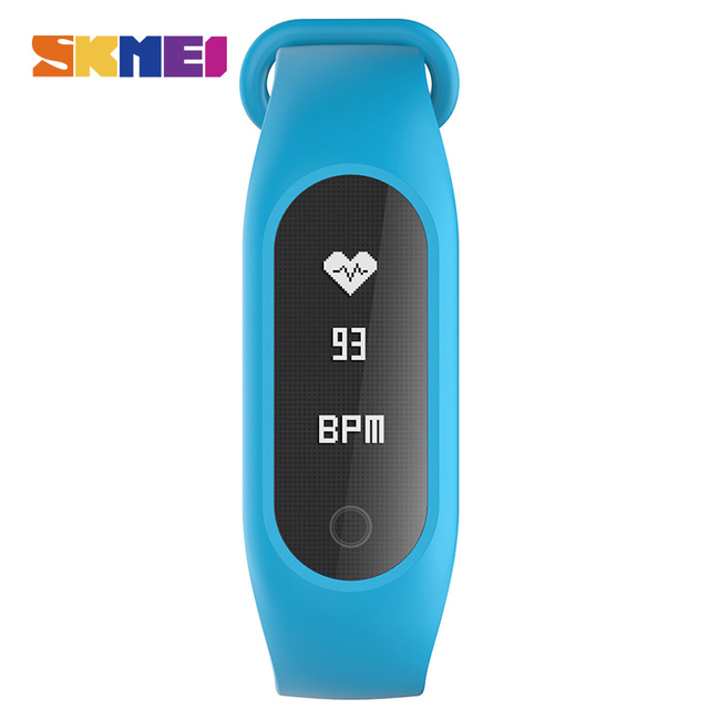 SKMEI B15S Men Women Sports Smart Wristband Electronic Watches Heart Rate Blood Oxygen Pressure Bluetooth Display Android ios