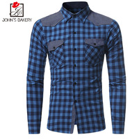 2018 Men Flannel Plaid Shirt 100 Cotton Spring Autumn Casual Long Sleeve Shirt Soft Comfort Slim