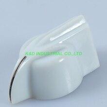 10pcs Plastic Rotary Knob White Guitar Amplifier 1 4 shaft Volume Tone Control