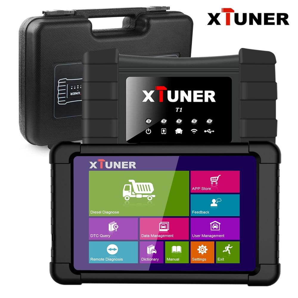 Xtuner T1 Heavy Duty Truck Scanner de Airbag ABS Ferramenta de Diagnóstico Do Carro Do Scanner DPF OBD2 para Daf Caminhão Man Diesel OBD scanner para Carros