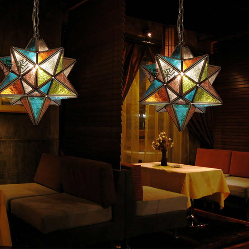 Us 168 0 Copper Star Pendant Light Coffee Bohemian Color Lamp Tea Bar Wl5031648 In Lights From