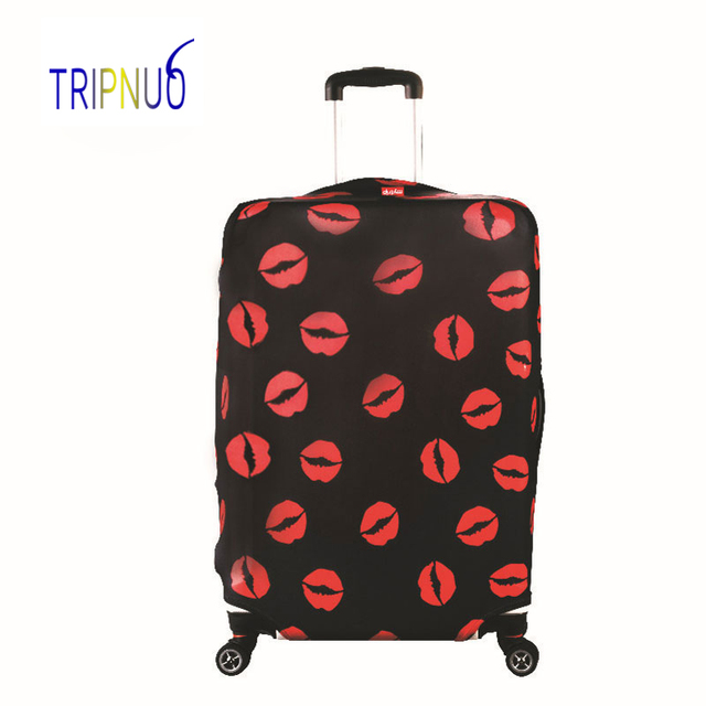 TRIPNUO Red Lips Luggage Cover Dust-proof Travel Bag Cover 18-30Inch Pink Suitcase Protective Covers Portable Travel Accessories Luggage Covers