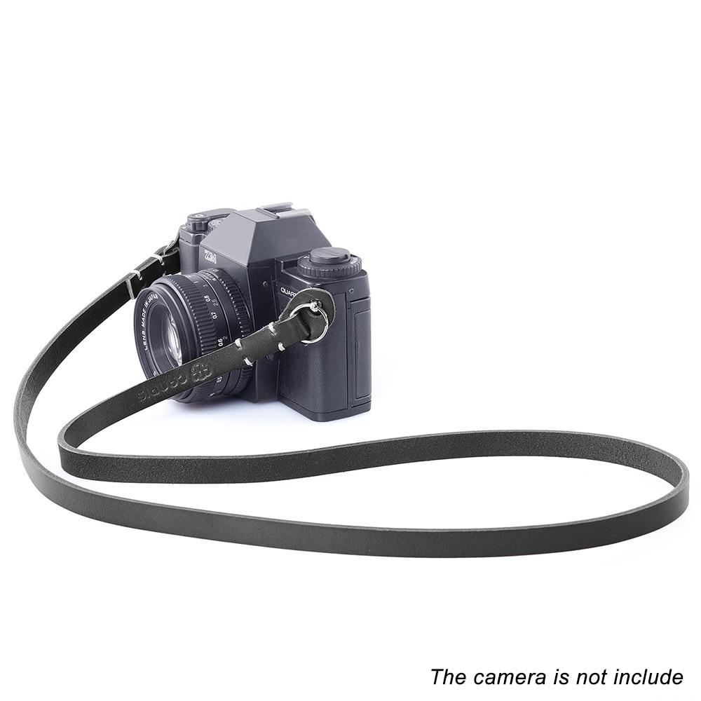 CANPIS Genunie Leather Camera Shoulder Neck Strap for Leica Sony DSLR Black