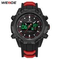WEIDE Mens Sports Analog Digital numeral Back Light Alarm Silicone Strap Band belt Automatic Date Quartz Movement Wristwatches