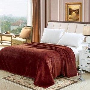 Image 1 - CAMMITEVER 6 размеров кофейного цвета, мягкое одеяло, домашний текстиль для воздуха/дивана/постельных принадлежностей, фланелевое одеяло, зимнее теплое мягкое постельное белье