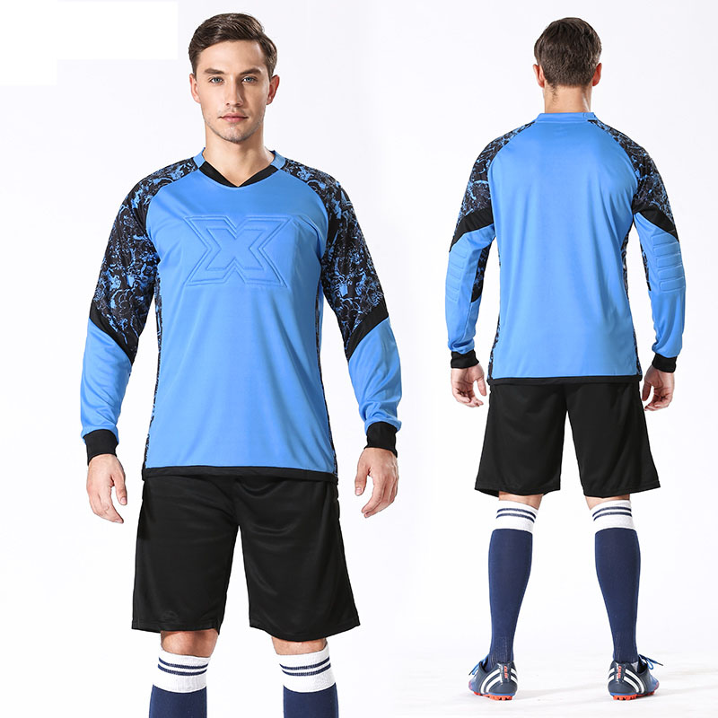 Custom Professional Men Goalkeeper Jerseys Soccer Football Jerseys Survetement Training Uniform Set Doorkeepers Thicken Sponge in Soccer Sets from Sports Entertainment
