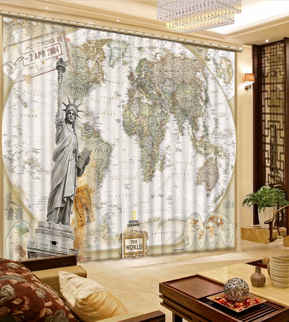 european curtains for living room world map sheer curtains fahsion modern blackout 3d window curtains in curtains from home garden on aliexpresscom
