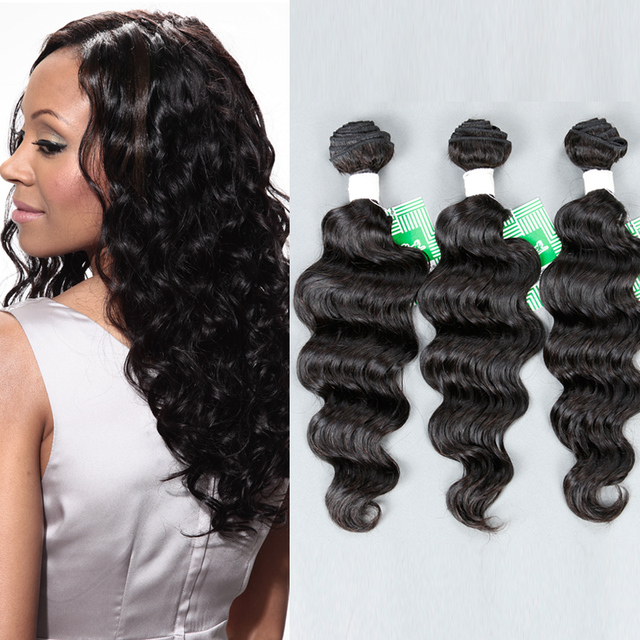 Sleek Indian Deep Wave 3pcs/lot Free Shipping,8A Unprocessed Virgin Hair Aliexpress UK,Indian Hair Weaving 100% Unprocessed hair