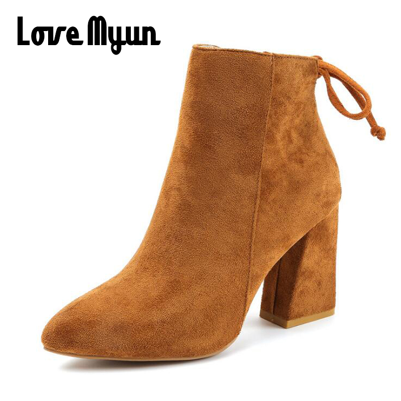 Casual Fashion High Heels Stretch Women Ankle Martin Boots fashion dress Spring boots Sexy Booties Pointed Toe Women boots SB-05