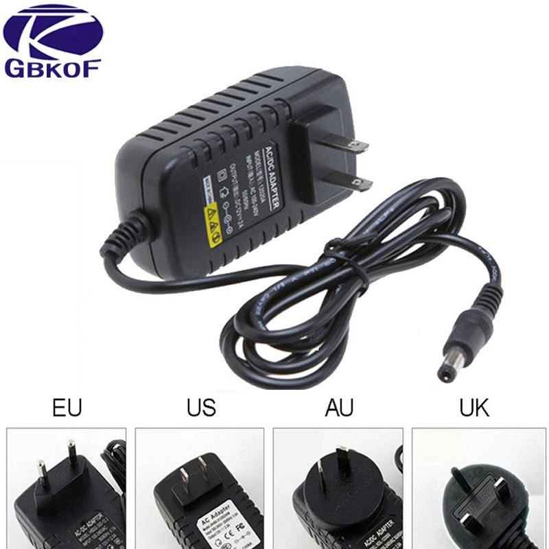 DC led driver 12V 3A 2A Led Strip Power supply Transformer unit AC 110V 240V 220V to 12V adapter with EU US UK AU plug Converter