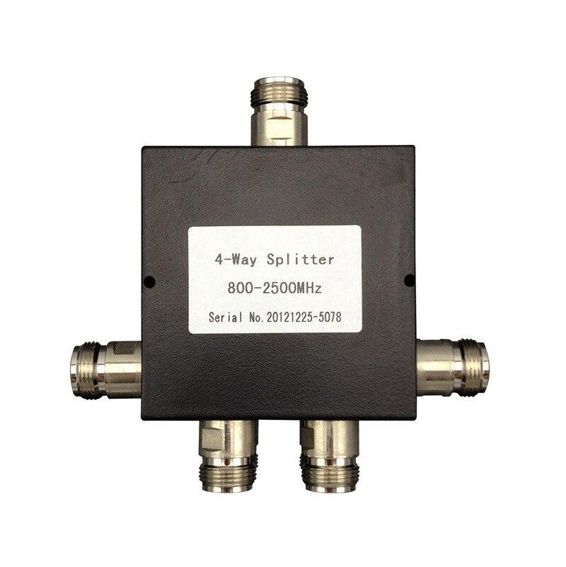 2-v/ías Splitter 2 x N hembra conector Tipo Divisor de Potencia 800~2500MHz divisor de Potencia para el Kit Amplificador de Se/ñal de tel/éfono celular con Antena