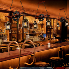 Loft Industrial Retro Bar Restaurant Pendant Light Creative Personality Decorative Gear Kerosene Lamp