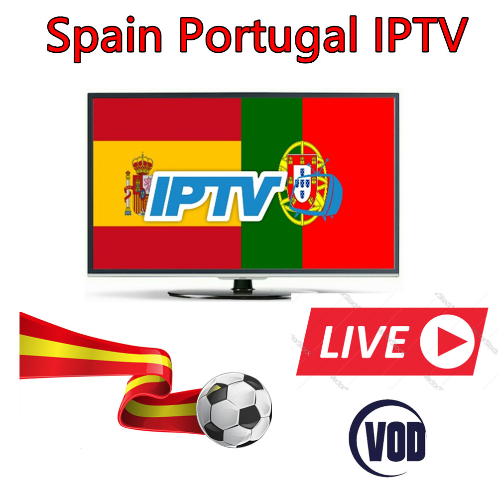 12 months Spain Portugal IPTV subscription 300 HD LIVETV for Spain Portuga IPTV include eleven sports
