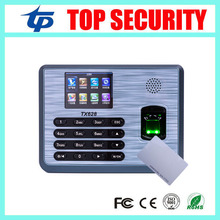 Linux system TX628/ID 3200 users fingerprint and 125KHZ RFID card reader time attendance time clock