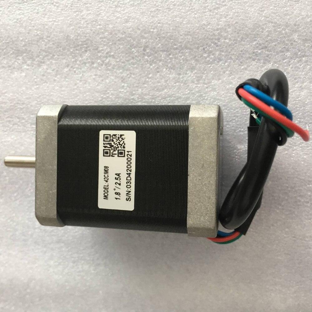 Nova Leadshine 42CM08 17 NEMA do motor de passo com 0.8 N. m (114 onça-in) segurando o torque motor de passo fase 2 4 fios tamanho do eixo 5mm