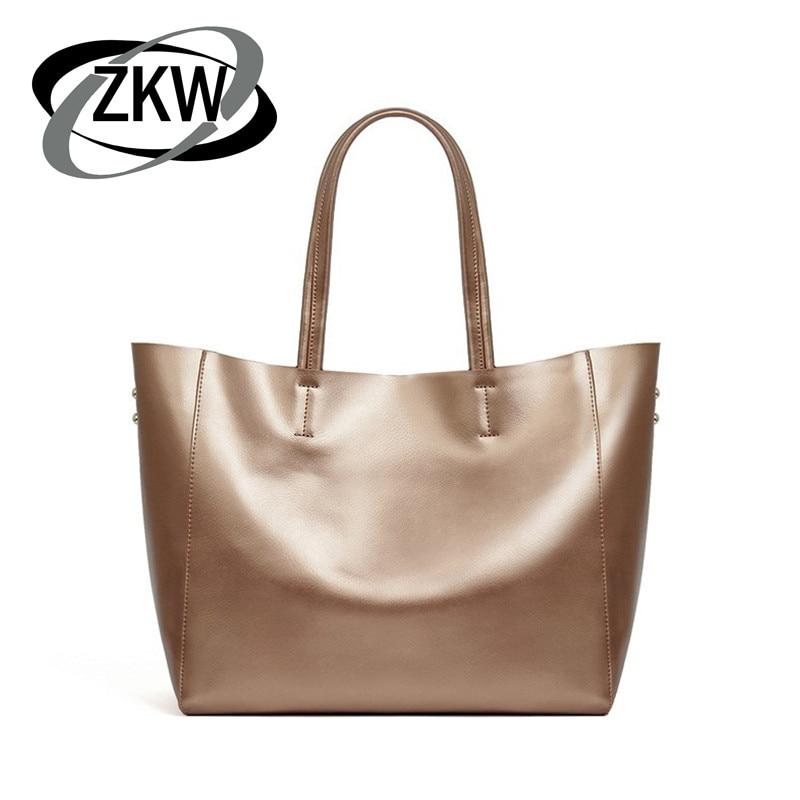 5e3894c9ed39 ZKW Мода 2019 г. хорошее качество пояса из натуральной кожи женская сумка  краткое коровьей большой ёмкость сумка большой сумки