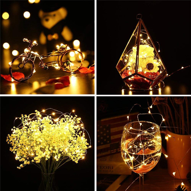 Cork Shaped 10 20LEDs LED String Light Copper Wire String Holiday For Christmas Party Wedding Decoration Outdoor Fairy Lights in LED String from Lights Lighting