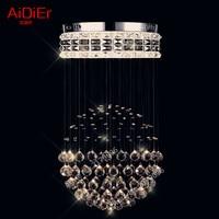New Contemporary Crystal Lights Circular Living Room Bedroom Lamp Creative Restaurant Bar Minimalist Chandelier Lighting