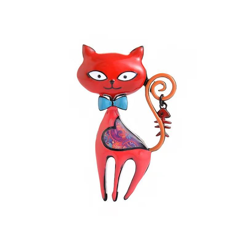New Arrival Fox Brooches For Women Animal Brooch Enamel Pins Gifts For Women Four Colors Enamel Brooch Lapel Pin Jewelry in Brooches from Jewelry Accessories