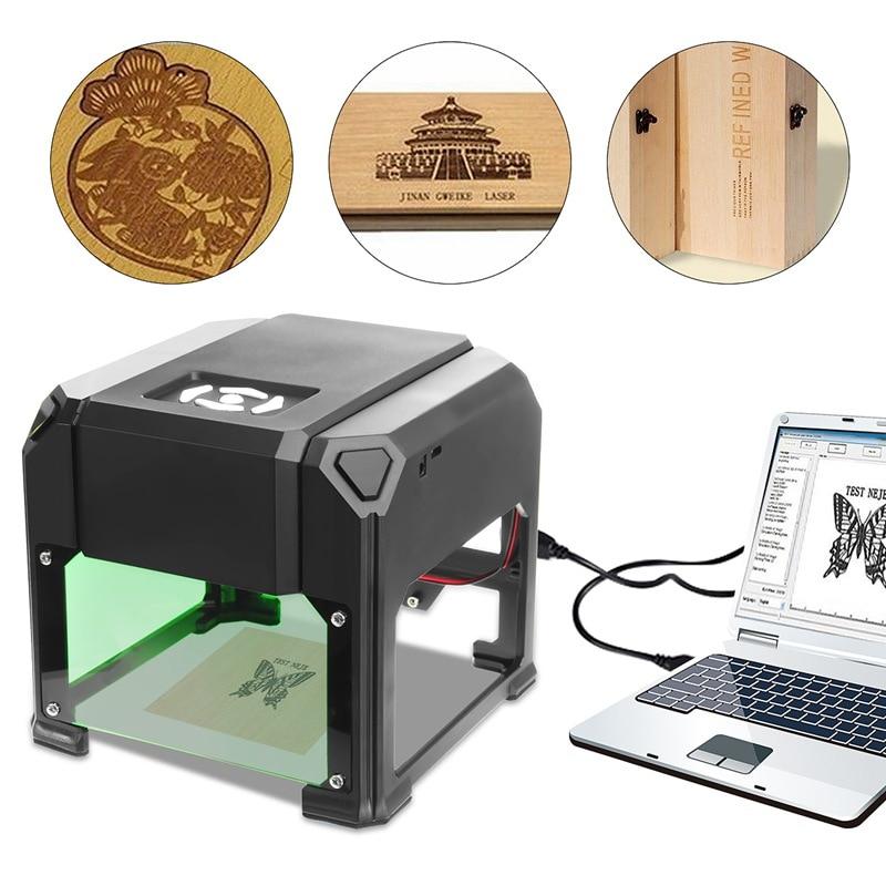 2000 МВт USB Настольный лазерный гравер машина 80x80 мм Гравировка Диапазон DIY Логотип Марка принтер резак ЧПУ лазерная резьба машина