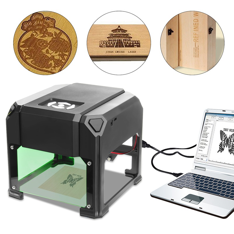 2000mW/3000mW USB Desktop Laser Engraver Machine 80x80mm Engraving Range DIY Logo Mark Printer Cutter CNC Laser Carving Machine
