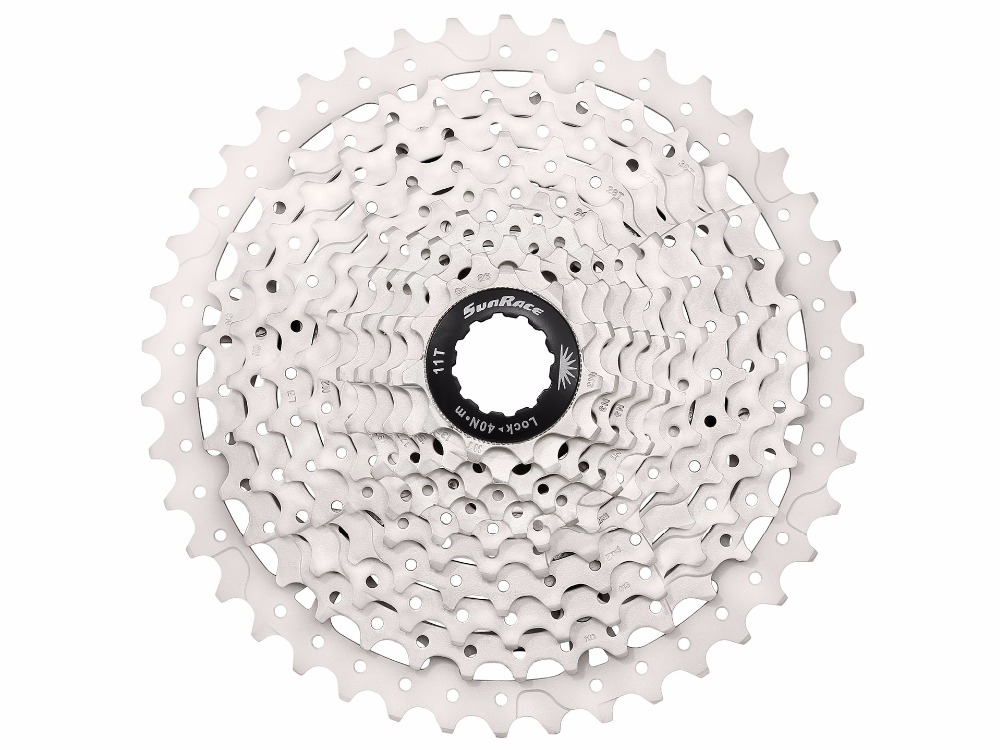 SUNRACE CSMS3 MTB 10 Speed Cassette 11-42T 11-40T Wide Ratio ED Black Ultra Light image