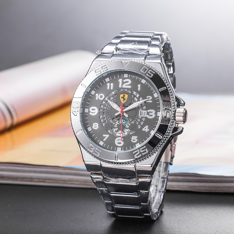 2019 Luxury Brand for Ferrary Men Silicone Strap Watches Fashion Sports Casual Quartz Wristwatch Relogio Masculino Reloj Hombre(China)