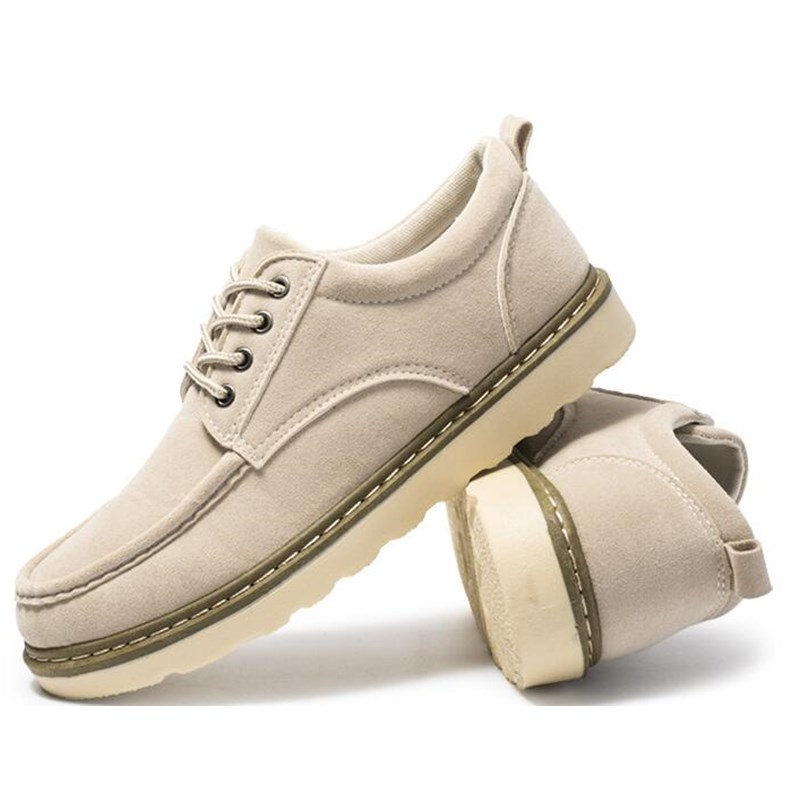 Lace black Hommes Cheville Haut Chaussures Casual Dentelle Mode Beige Jeunes En up Style Cuir Haute Up yellowish De Plat Oxfords Brown Qualité HPwqgrZHx
