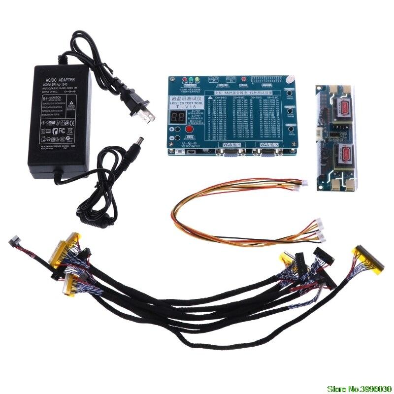 Ноутбук ТВ/ЖК светодио дный/светодиодный тестовый Инструмент Тестер экранов поддержка 7-84 дюймов LVDS 6 экран Линия большое значение