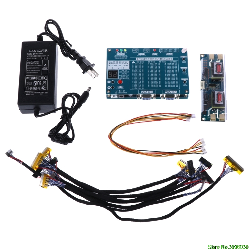 Ordinateur portable TV/LCD/LED Outil de Test Testeur de Panneau de Soutien 7-84 pouce LVDS Écran 6 Ligne Grande valeur